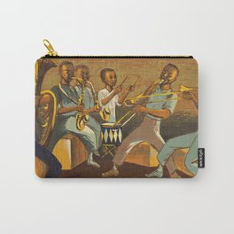 African American Masterpiece 'Harlem Musicians' WPA musical painting by Elizabeth Olds Carry-All Pouch