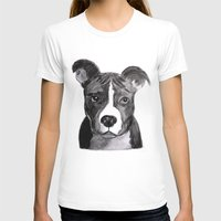 pit bull T-shirts featuring Pit Bull Dogs Lovers by Gooberella