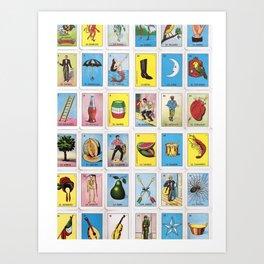 Lotería Cards Art Print