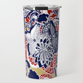 Wooden Peacock Travel Mug