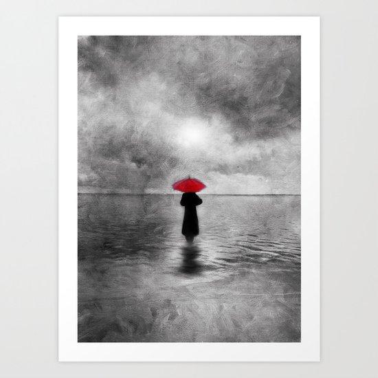 waiting in the sea II  -  by Viviana Gonzalez Art Print