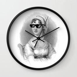 Thug Jane Austen Wall Clock