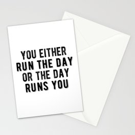 Inspirational - Run The Day Stationery Cards