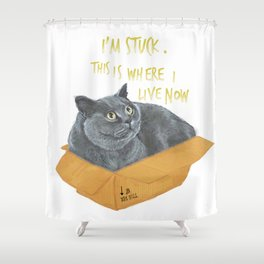 Boxcat Shower Curtain