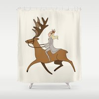 thranduil Shower Curtains featuring Fabulous Thranduil by Angela Taratuta