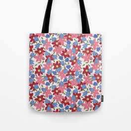 Liberty print in pinks, reds and blues Tote Bag