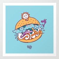 Sky Burger Art Print
