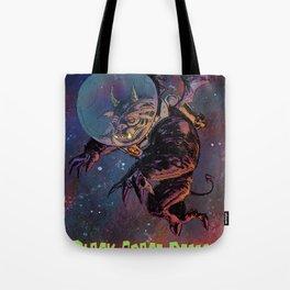 Black Space Demon Tote Bag