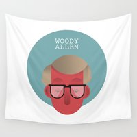woody Wall Tapestries featuring WOODY ALLEN by Gerardo Lisanti