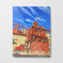 Gilbert's Feed Co. – Oakdale, California, USA Metal Print
