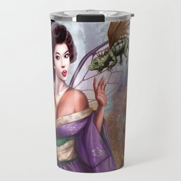 Geisha Fairy and Orson the Dragon Travel Mug
