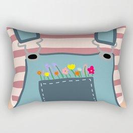 Pocket Full of FLOWERS Rectangular Pillow