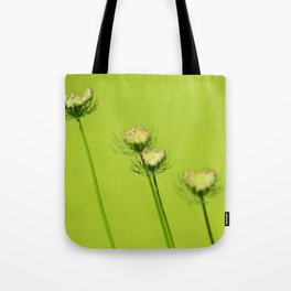 Chartreuse Queen Anne's Lace Tote Bag