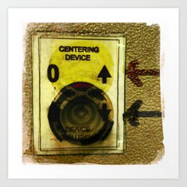 centering device Art Print