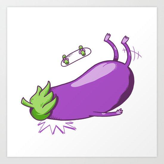Eggplant Faceplant Art Print