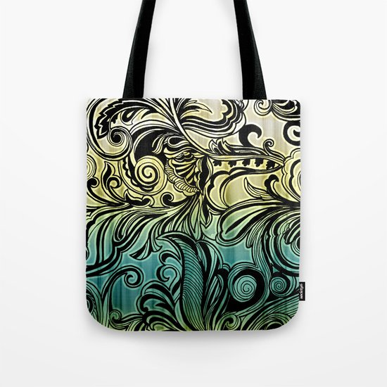 Swirl and Curl Tote Bag