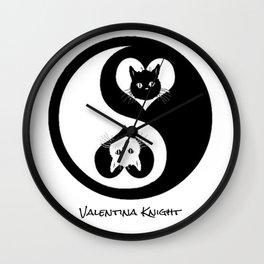 Ying Yang Kitty Valentines Day Balance Purfection :) Wall Clock