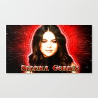 selena gomez Canvas Prints featuring Dedication #1 - Selena Gomez #1 by InnerSymbiance