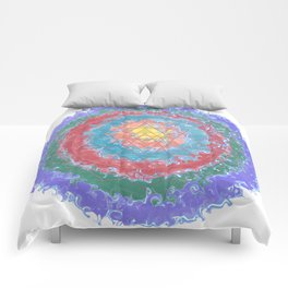 Be Like Water Sri Yantra Comforters