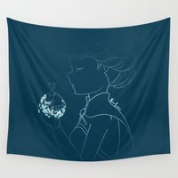 elsa Wall Tapestries featuring Queen Elsa by Lilolilosa