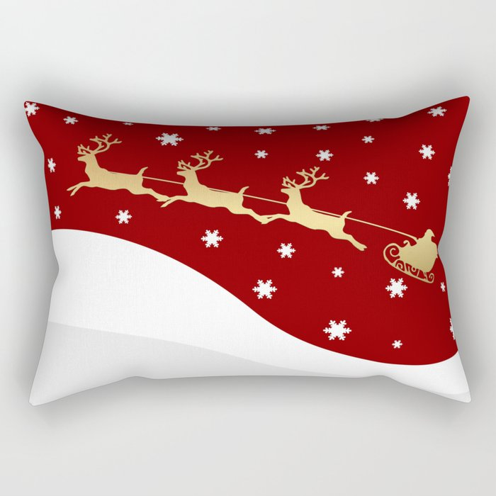 red christmas santa claus rectangular pillow by absentisdesigns society6