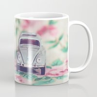 volkswagon Mugs featuring VDub Beetle by Anna Dykema Photography
