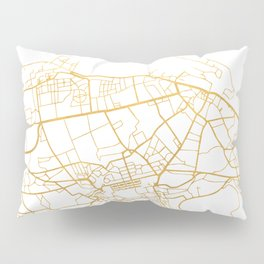EDINBURGH SCOTLAND CITY STREET MAP ART Pillow Sham