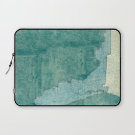 Florida State Map Blue Vintage Laptop Sleeve