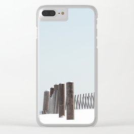 Linear Winter Clear iPhone Case