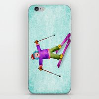 tina crespo iPhone & iPod Skins featuring Tina Skiing by Tina