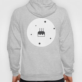 Birthday Cake With Party Candles Monochrome Hoody