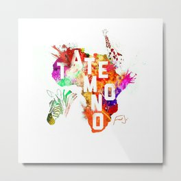 Tatemono Jungle by Fred Jo' Metal Print