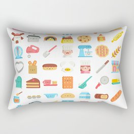 CUTE BAKERY PATTERN (CUTE CHEF BAKER) Rectangular Pillow