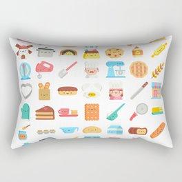 CUTE BAKERY PATTERN (CUTE CHEF BAKER) Rectangular Pillow