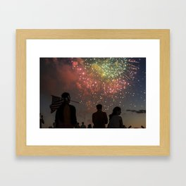 Fourth of July on the National Mall Framed Art Print