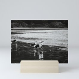 Seagulls by the sea Mini Art Print