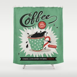 Saved By Coffee Shower Curtain