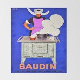 Vintage poster - Baudin Throw Blanket