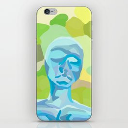 blue human green earth iPhone Skin
