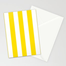 Philippine golden yellow - solid color - white vertical lines pattern Stationery Cards