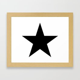 Black star t shirts cotton jersey clothing Framed Art Print