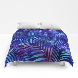Violet jungle vibes Comforters