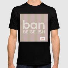 Ban Beige-ish Black Mens Fitted Tee MEDIUM