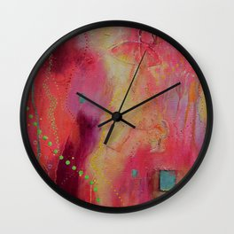 Happyland - caught in the storm Wall Clock