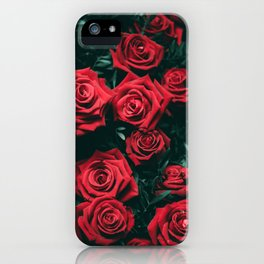 Red Roses in the Dark iPhone Case