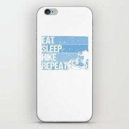 Eat Sleep Hike Repeat wb iPhone Skin