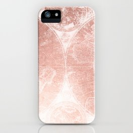 Antique World Map White Rose Gold iPhone Case
