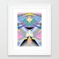origami Framed Art Prints featuring Origami by Marta Olga Klara