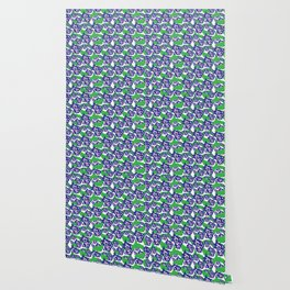 Blue Purple and Green Rough Abstract Dark Eye Wallpaper