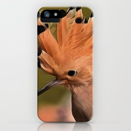 Beautiful Hoopoe Bird With Crown Of Feathers iPhone Case